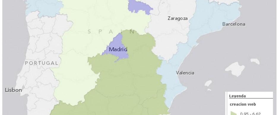 mapa regiones creadoras contenido internet