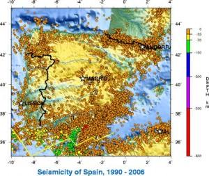 actividad sismica españa