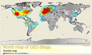 densidad de geo blogs